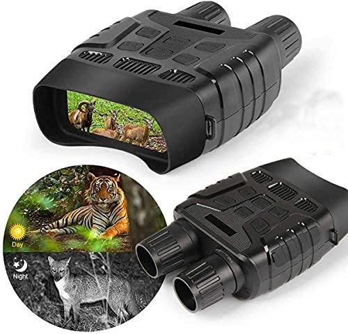 Dakecy Gafas de visión Nocturna Binoculares Alcance de visión de 300 m Video 960P Iluminación de Infrarrojos de 7 Niveles Binoculares Grabación para detectar,Gafas de visión Nocturna Binoculares