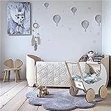 Nicole Knupfer - Alfombra infantil (algodón, 100 x 65 cm), color gris