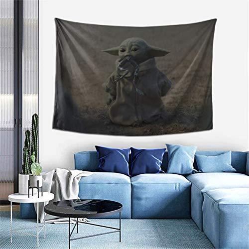LMHBLTOP Tapiz para colgar en la pared, Baby Yoda Mandalorian Colores, Tapices Art para decoración del hogar, dormitorio, sala de estar, dormitorio, alfombra de pared, 60 x 40 pulgadas