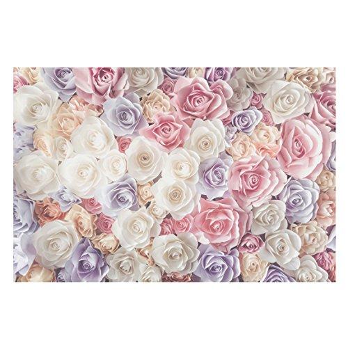 Vliestapete Pastell Paper Art Rosen, HxB: 290cm x 432cm
