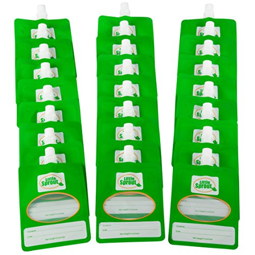 Disposable 6oz Baby Food Storage Pouch Containers, 24 Pk- Write What...