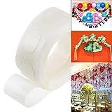Calistouk 100stk Ballon Kleber Doppelseitige Klebepunkte Folie Luftballons Foto Hochzeit Geburtstag...