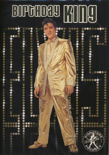 Elvis King Glückwunschkarte mit Ton