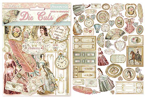 Stamperia Die Cuts assortite-Princess, Multicolore, 15cmX15cm, 6 unità