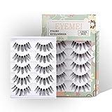 Fake Eyelashes 5 Pairs False Eyelashes Flexible Multipack Lashes Handmade Reusable Fashion for Women's Makeup Soft Eyelash by EYEMEI