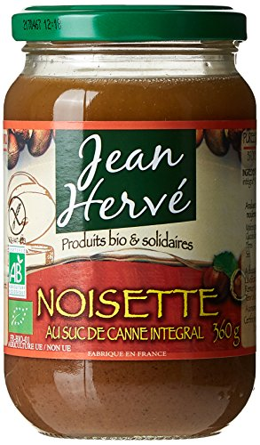 Jean Hervé - BIO Purée de Noisettes au Suc de Canne Intégral 360 g - Lot de 2