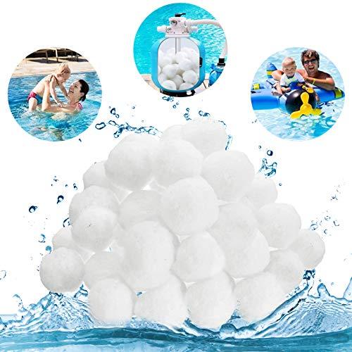 Filterballs für Sandfilteranlagen, 1000g Pool Filterbälle,Ersetzen 36kg Filtersand,Filterbälle für Poolpumpe,Pool Filter Balls,Quarzsand Filter Balls,Filterballs für Glasklares Wasser im Pool