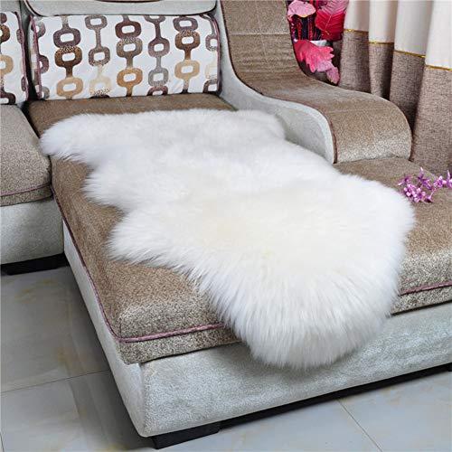 Dikoaina Classic Soft Faux Sheepskin Fur Rug White Fluffy Area Rug Shag Rug Carpets for Bedroom Living Room