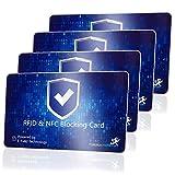 DEKRA geprüfte RFID Blocker Karte (MakakaOnTheRun, 4 STK): RFID Schutz 3fach geprüft, neueste NFC Technologie, stärkste RFID Blocker Karte mit Störsender, bis 9cm Schutz. Bekannt aus TV & Radio!