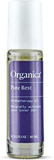 Organica Wellness Pure Rest Roll On Essential Oils Lavender & Sandalwood | Calming Aromatherapy Oil Blend | Sleep, Stress & Anxiety Relief Rollerball