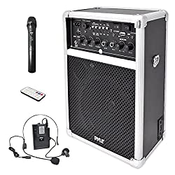 small Portable indoor stereo sound system Pyle Pro, 6.5 inch speaker, USB SD card …