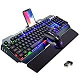 Best Wireless Keyboard And Mouses - Wireless Keyboard and Mouse Combo,Rainbow Backlit Gaming Keyboard Review