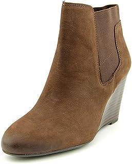 أحذية نسائية طويلة حتى الكاحل وتدي من Franco Sarto Octagon مصنوعة من جلد أكسفورد بني مقاس 8