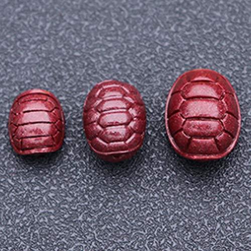 Púrpura Natural Zodiaco Suelto Cinnabar Chakra Beads Lucky Feng Shui Regalos para Pulseras DIY Artesanía Joyería Hacer Encantos Accesorios A Granel Collares,Tortoise Shell Large