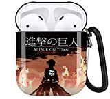 Anime Attack On Titan AirPods Case Personalize Custom, AirPods Case Cover Compatible with Apple AirPods 1st/2nd,Full Protective Durable Shockproof Drop Proof with Key Chain Compatible