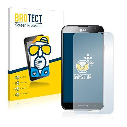 BROTECT 2X Entspiegelungs-Schutzfolie kompatibel mit LG Electronics Optimus G Pro E986 Bildschirmschutz-Folie Matt, Anti-Reflex, Anti-Fingerprint