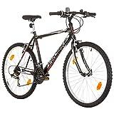 Multibrand Distribution PROBIKE 26 Pouces VTT 18 Vitesses, Vélo Homme et Vélo Garçon, adapté de 165-183 cm (Noir)