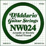 D'Addario NW024 Corda Singola Elettrica-Acustica Nickel Round