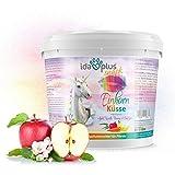 Ida Plus – Unicorno bacio 3 kg – Delicato per cavalli – con vitamine & minerali – mela, banana, carota & eucalipto – deliziosi dolcetti per cavalli e pony in un pratico secchio