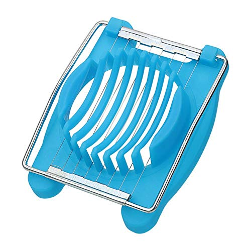 Handmatige keukenmachines Eiersnijmachines Fruitsnijder Chopper Kookgereedschap Roestvrijstalen gadgets Keukengereedschap, blauw