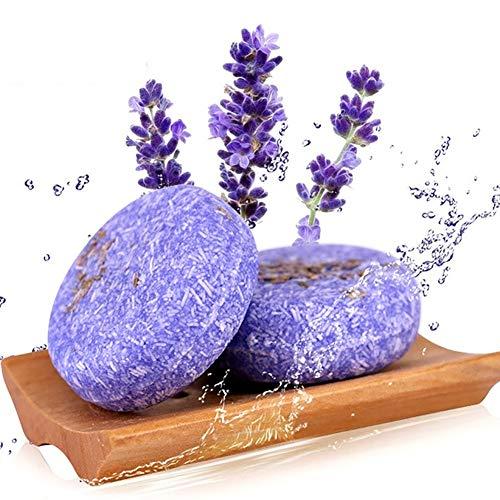 Shampooing Bar, Angmile Solide Bar Shampooing Savon Croissance des Cheveux Savon Bar pour la Perte de Cheveux Nettoyage Usine Essence Shampoo & Conditioner 100% Naturel (Lavande de Genévrier)