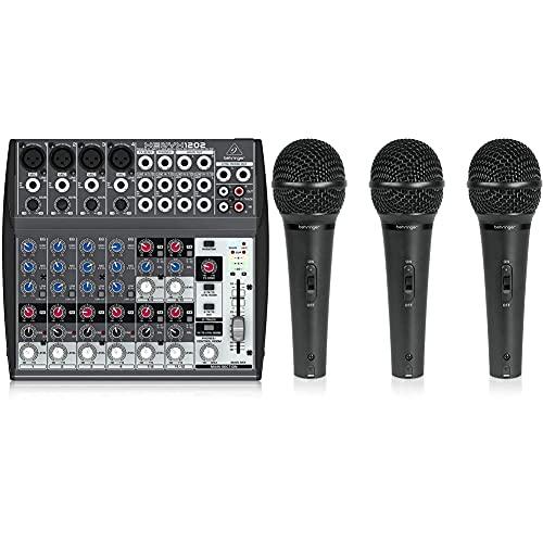 Behringer Mesa Xenyx 1202, 12 Puertos + Ultravoice Xm1800S Maleta 3 Micro