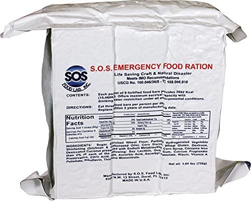 SOS Food Labs SOScin1pk S.O.S. Rations Emergency 3600...