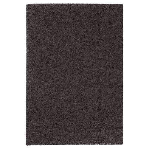 Stoense - Alfombra de Pelo bajo (133 x 195 cm), Color Gris Oscuro