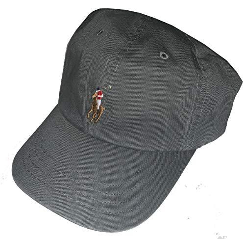 Polo Ralph Lauren Herren Baseballkappe, Baumwolle, verstellbar -  Grau -  Einheitsgröße