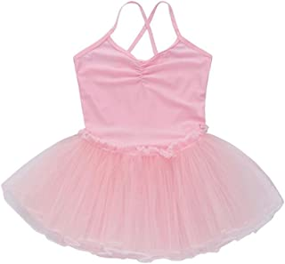 Winsummer Girls Camisole Ballet Dress Leotard Chiffon Skirt Sparkly Fairy Dance wear Costumes Tutu Dresses for Gymnastics