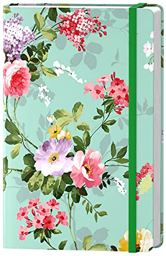 Huamxe Lined Journal Notebook, Hardcover Journal for Women, Medium 5.7 x 8.4 in, 160 Pages Thick Paper, Cute Aesthetic Floral College Ruled Notebook for Writing Journaling Work Office School, Flower