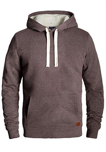 Blend Tedy Herren Winter Pullover Kapuzenpullover Hoodie Sweatshirt mit Teddy-Futter, Größe:M, Farbe:Mocca Mix (70816)
