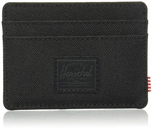 Herschel Charlie RFID - Funda Tipo Cartera para Hombre, Color Negro y Negro, Talla única