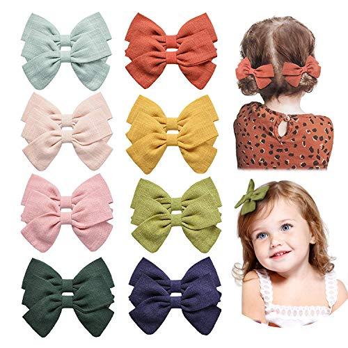 16 clips para el pelo para bebés y niñas, accesorios para bebés y niños en pares