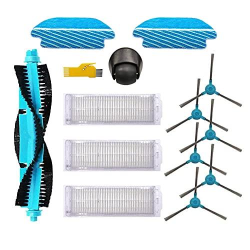 Kit de accesorios MIKONG para Cecotec Conga 3590 3390 3790 3490 3290 3690 Piezas de repuesto para robot aspirador, paquete de 13, cepillo principal, filtro, cepillo lateral, paño de fregona