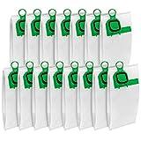 15 X Sacchetti Folletto VK140/150 di Aspirapolvere Compatibili con i Sacchetti per Aspirapolvere Vorwerk Folletto VK140 VK150 - Verde