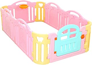 Baby Safety Fence - Baby Playpen - 5 Panel Plus 1 Gates Plus 4 Corner- Portable Play Yard with Gate for Babies