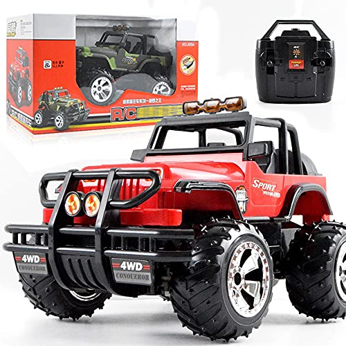 Nsddm 1/14 Scale RC Car, Coche de Control eléctrico de 4 Canales, vehículo Todoterreno con Faro, camión de Escalada Grande, Coche de Juguete para niños y niño, RTR,