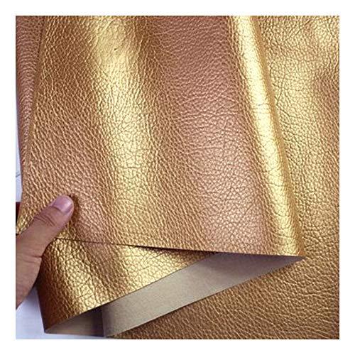 Möbelstoff Premium Bezugsstoff Zum Kunstleder Stoff Heavy Luty Litchi Grain Textur Kunstleder Vinyl Leder Stoff Polster Strukturiertes Material - Halber Meter 50 Cm X 140 Cm - Gold ( Size : 1.4x10m )