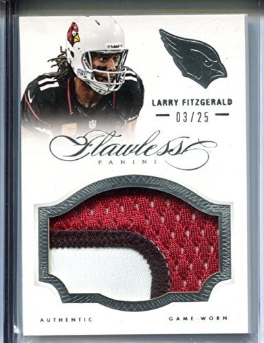 Larry Fitzgerald #03/25 Football Trading Card 2014 Panini Flawless Game Worn Patches #42 Arizona Cardinals