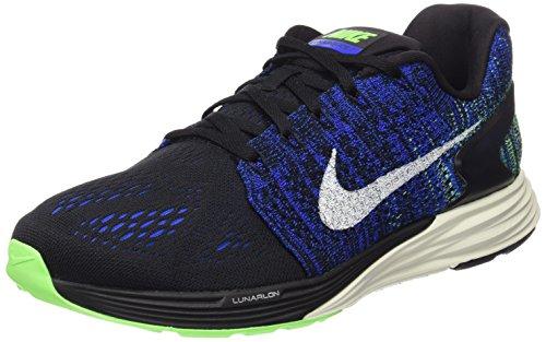 Nike Herren Lunarglide 7 Sneaker, schwarz/blau, 42.5 EU