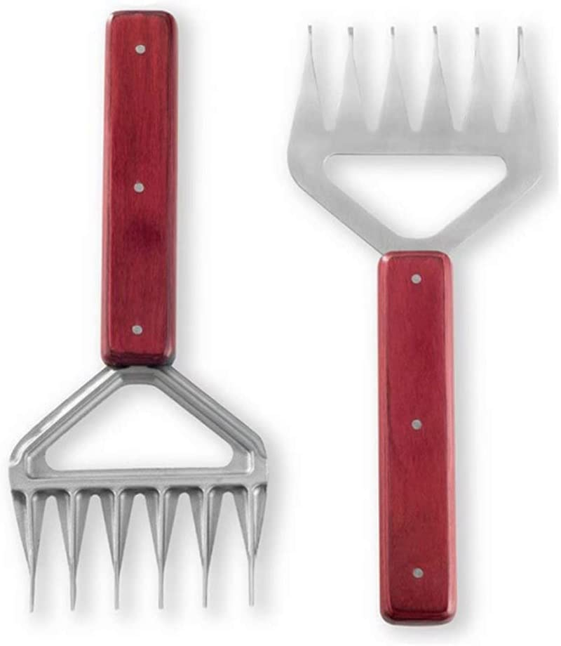 YZX Bear Claws Meat Shredder Handler Stainless Steel Long Wood H