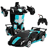 AXB Transform RC Car Robot, Remote Control Car Independent 2.4G Robot Deformation Car Toy with One Button Transformation and 360 Speed Drifting 1:18 Scale