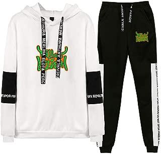 Bi-llie Ei-Lish Casual Sport Suit Camouflage Top Fitness Sports Hoodie Sweatpants Tracksuit