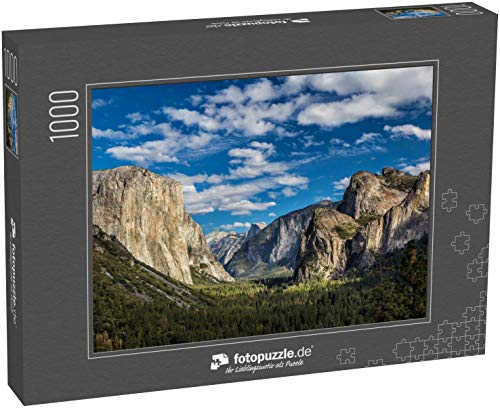 Puzzle 1000 Teile Yosemite Nationalpark Tal aus dem Tunnelblick - Klassische Puzzle mit edler Motiv-Schachtel, Fotopuzzle-Kollektion \'USA\'
