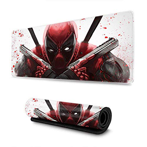 Deadpool Guns Art Computer Mouse Pad Optimized for Gaming Sensors - Designed for Maximum Control for Gaming and Office 15.7' x 35.4' inch