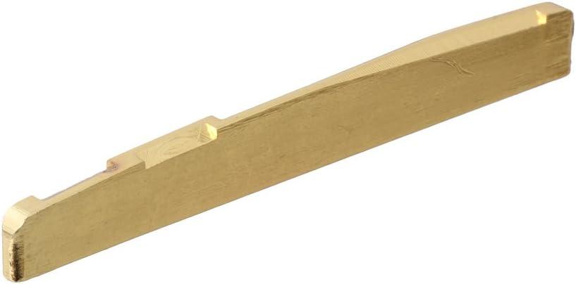 LYWS Guitar Bridge Saddle Slotted Brass Gu for String 6 Japan Maker Selling New Acoustic