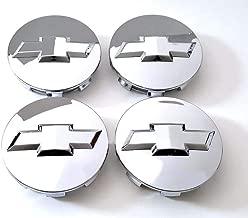Carhome01 Wheel Center Hub Caps for 2005-2013 Chevrolet, 3.25 Inch Chrome Center Cap Emblem for 18 20 22 Inch Chevy Surburban Silverado Tahoe Wheels 4pcs (Silver)