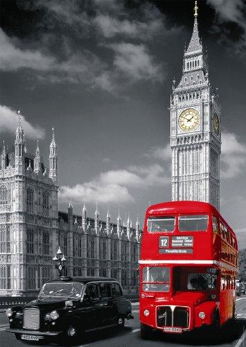 Nathan – 87735 – Klassisches Puzzle – 1500 Teile – London mit rotem Bus