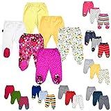 bebepan Baby Hose mit Fuß Neugeborene Strampelhose mit Fuß 3er Pack Hose Baby (68) … (50, Blume (H 0002))